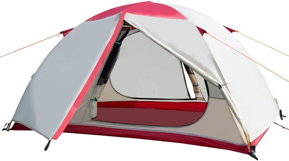 2 Carpa Persona Acampar Dome con Bolsa de Transporte, Peso Ligero Impermeable Tienda de campaña Plegable portátil para Acampar al Aire Libre/Senderismo