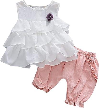 Patifia - Conjunto de ropa para bebé, niña, con volantes ...