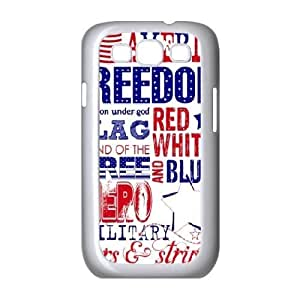 Jumphigh American passport and ID card Samsung Galaxy S3 Case Young 4th of July, Samsung Galaxy S 3 Case Women [White]