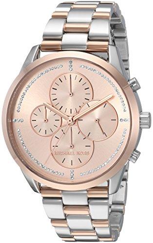 Michael Kors Women's 'Slater' Quartz Stainless Steel Casual Watch, Color:Silver-Toned (Model: MK6520)