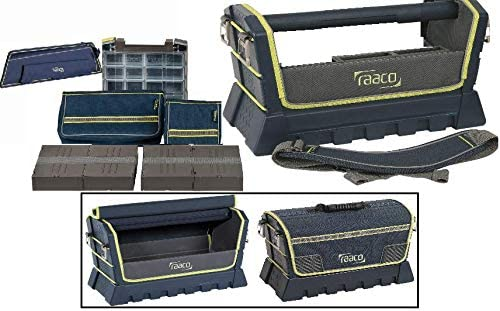 ToolTaco 24 Open Top Tool Box Electricians Bag Stiff Frame Tool Tote- 9 piece set