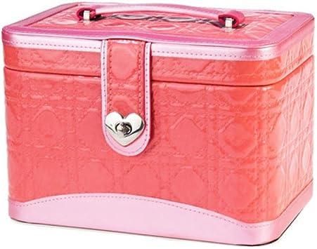 Estuche de Maquillaje Joyero Solapa de Cuero en Relieve Espejo joyería cosmética Estuche Rosa portátil Viaje: Amazon.es: Equipaje