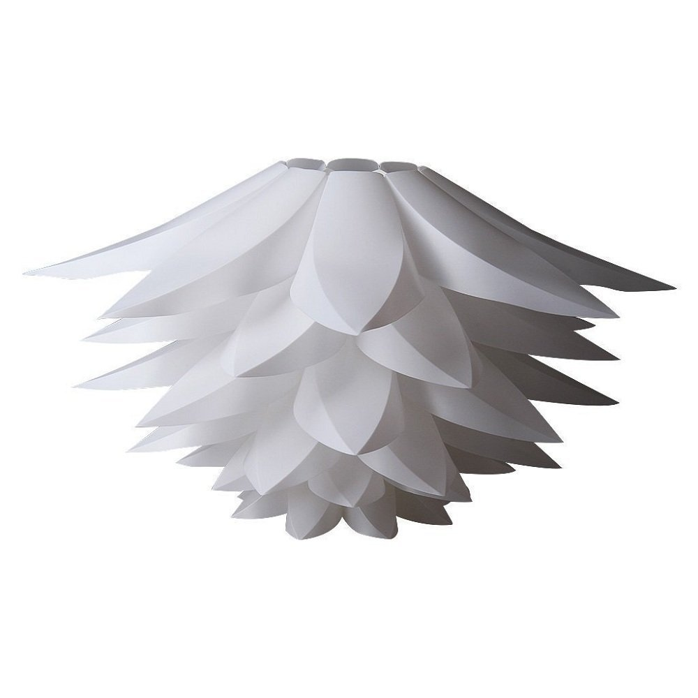 OWIKAR DIY Lotus Chandelier IQ PP Pendant Lampshade Suspension Ceiling Pendant Chandelier Light Shade Lamp For Holiday,Living Room,Bedroom,Study,Dining room Decor Lighting (White)