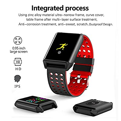 Fitness Tracker Watch Color Screen with Heart Rate Monitor, Waterproof Activity Tracker for Swimming Sport Steps and Sleep, 2 Bands Stainless Steel and Silicone Straps, by E4go