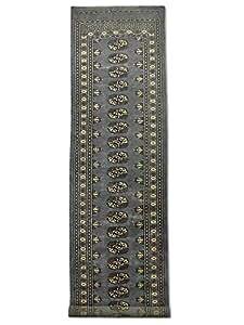 Hecho a mano tradicional persa bokhara alfombra para - Amazon alfombras pasillo ...