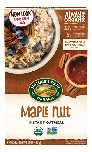 Nature's Path Organic Instant Hot Oatmeal, Maple Nut, 14 Ounce (Pack of - Specialty Nuts