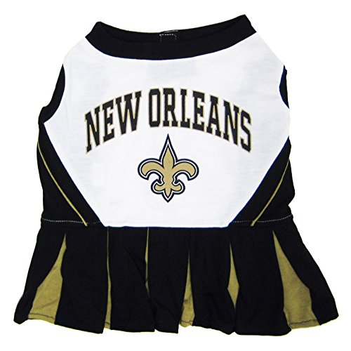 - New Orleans Saints NFL Cheerleader Dress For Dogs - Size X-Small