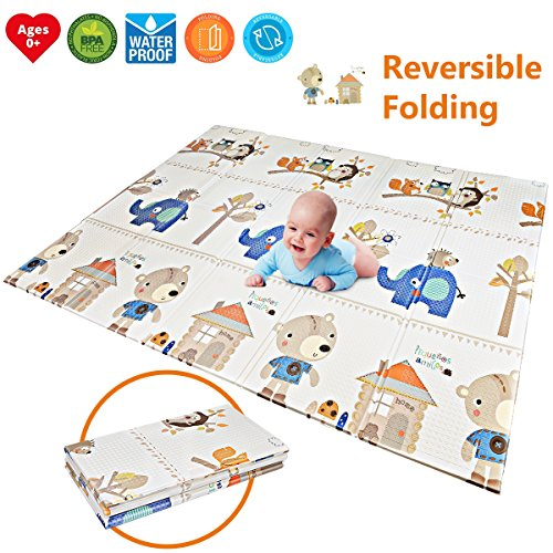Baby Play Mat | BPA Free Non-Toxic Foam Folding Baby Care Playmat 78.7