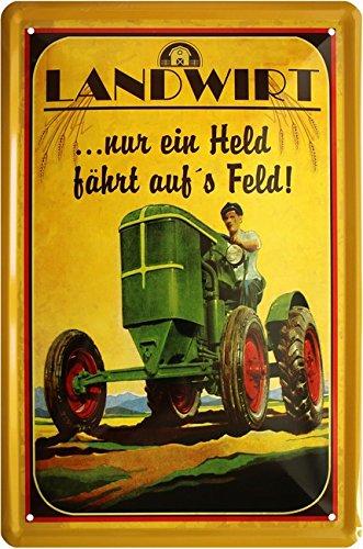 Granjero Solo un Héroe fährt en S Campo Tractor Bauer 20 x ...
