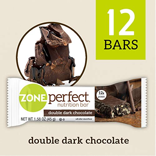 - 	ZonePerfect Nutrition Snack Bars, Double Dark Chocolate, 1.58 oz, (12 Count)