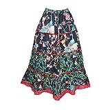 Mogul Interior Womens Simple Boho Maxi Full Summer Skirts S/M