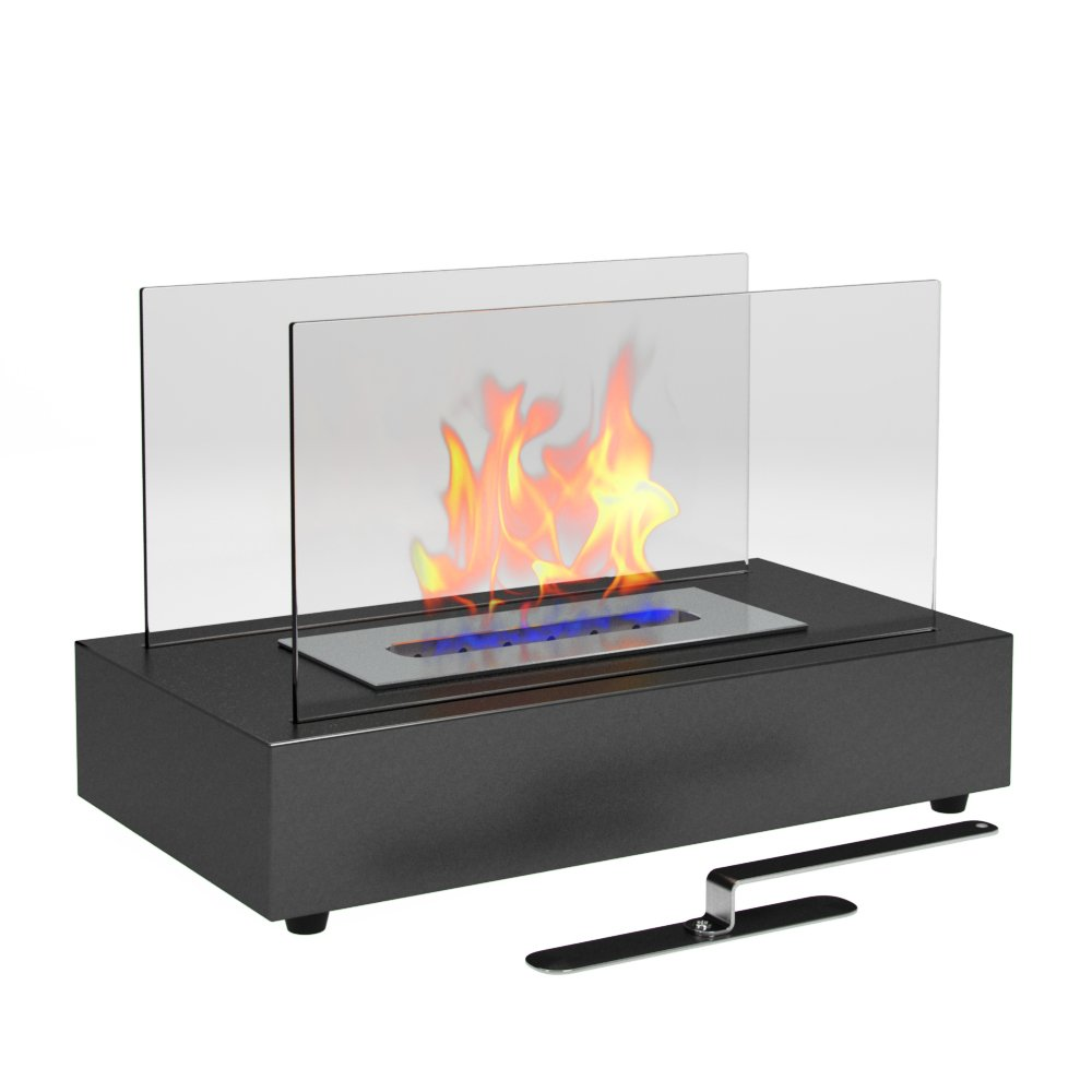 Galleon Gf301801 Vigo Table Top Ethanol Fireplace Black