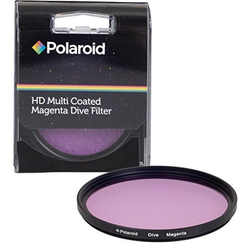 Polaroid 58mm HD Muti-Coated Magenta Dive Filter - For Use In Green Water by - Of Uses Polaroid