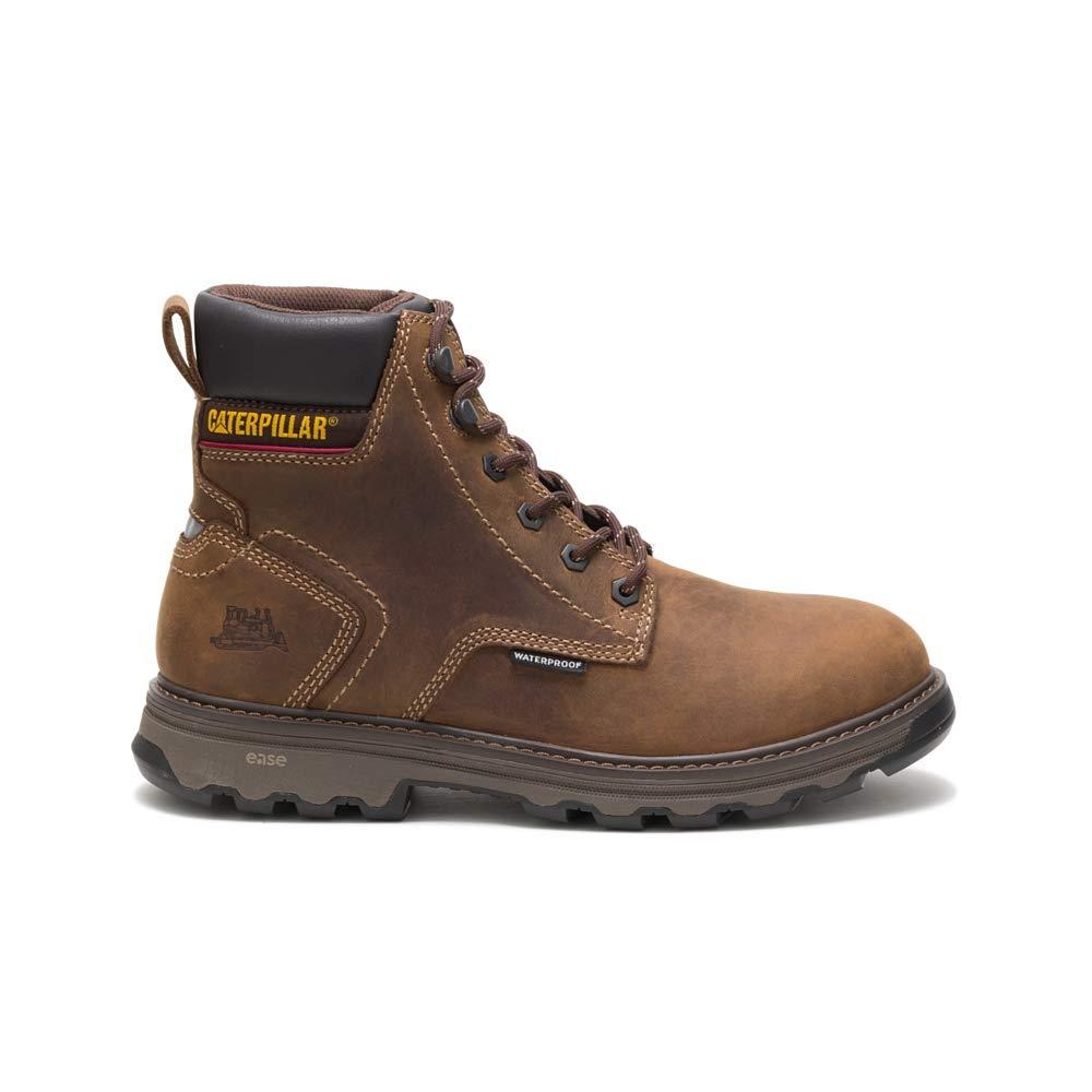 Caterpillar Men's Precision Waterproof Work Boot, Dark Brown, 13 W US