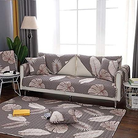 WBFN Funda, Moda hogar Retro Tela de algodón sofá cojín Antideslizante Sencilla cojín universales Conjunto de sofás Toalla de Cuatro Estaciones, a Prueba de Polvo práctico for la Vida: Amazon.es: Hogar