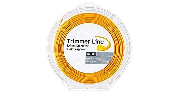 Spares2go - Línea de desbrozadora para fresadora Stihl (90 m x 2,4 ...