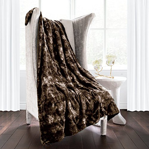 - Italian Luxury Super Soft Faux Fur Throw Blanket - Elegant Cozy Hypoallergenic Ultra Plush Machine Washable Shaggy Fleece Blanket - 50