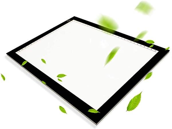 Wmarking UK Mesa De Luz Dibujo, Memoria De Atenuación Continua A2 Interruptor Táctil Inteligente Panel De Acrílico Trazador De Caja De Luz LED Portátil Con Escala Para Pintura De Diamante Artista Bo: