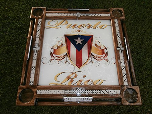 Puerto Rican Pride Domino Table by Domino Tables by Art