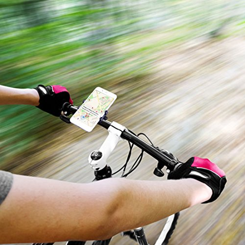 Bike Phone Mount, CHOETECH Aluminum Universal Bicycle Phone Holder Handlebar Mount Compatible iPhone X/8/8 Plus/7/7 Plus/6s/6 Plus,Samsung Galaxy S9/S8/S7/S7Edge/S6,GPS, Google Nexus, LG by CHOETECH (Image #8)