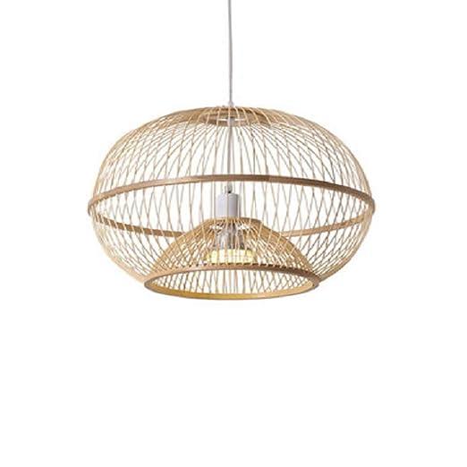 HHCC Lámpara de bambú Lámpara Colgante para lámparas de Techo ...
