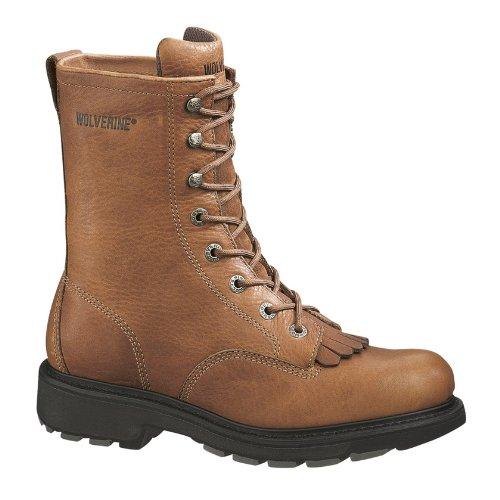 (Wolverine Men's Herrin 8 Inch Steel Toe SR Lacer Work Boot, Brown, 10.5 XW US)