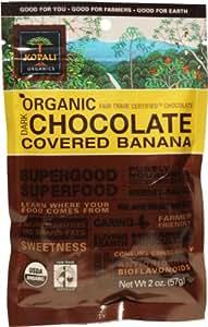 Kopali Organics Dark Chocolate Banana, 2-Ounce Pouches (Pack of 6)