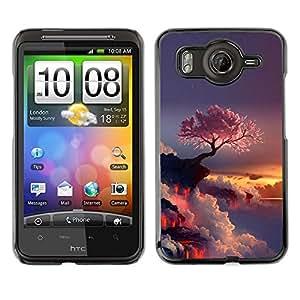 EJOY---Cubierta de la caja de protección la piel dura para el / HTC G10 / --Púrpura Árbol japonés