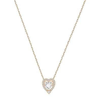 Amazon.com  Swarovski Jewelry Rose-Gold Tone White Sparkling Dance ... e592a30d2
