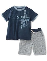 Calvin Klein Boys' 2 Pieces Hooded Short Set