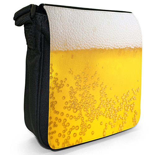 Alcohol White Foam Canvas Size Beer Shoulder Bag Frothy Loves Everyone Close Pub Black Up Small EqOYCw6