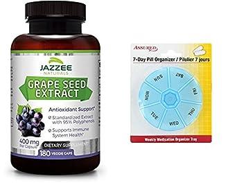 Extracto de semilla de uva | Fuerza máxima | 400 mg | 180 tapas vegetarianas con