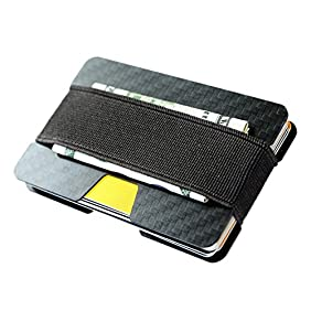 Carbon Fiber RFID Blocking Money Clip Credit Card Holder Slim Wallets for Men