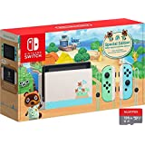 "Newest Nintendo Switch with Green and Blue Joy-Con - Animal Crossing: New Horizons Edition - 6.2"" Touchscreen LCD…"