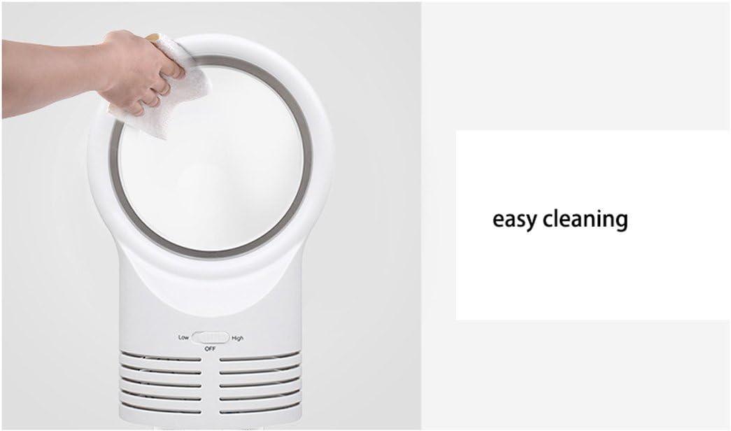 Ventilatore senza foglie Mini Ventilatore senza ventole portatile 12v Ventilatore per auto con 2 velocità del vento/modalità- nero, bianco (Colore : Bianca) Bianca