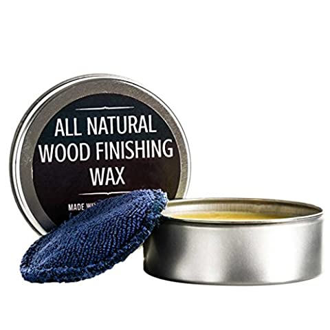 All Natural Wood Seasoning Wax Tin by Virginia Boys Kitchens - 4 Ounce Coconut Oil and Beeswax Food Safe Sealer for Cutting Board, Bowl and - Finish Cutting Boards