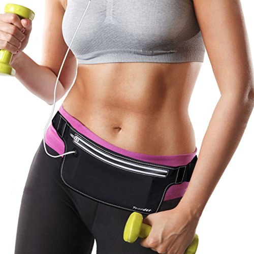 Sport Runner Zipper Waist Bag Running Belt Pouch Black - 4
