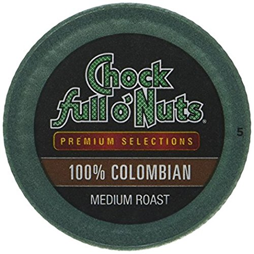 Chock Full O'Nuts 100% Colombian Coffee 12 CT Single Serve Pods - Pack Of 6