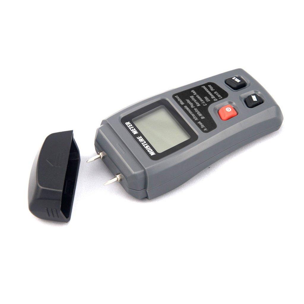 MagiDeal LCD Display Digital Wood Moisture Meter Humidity Tester 2 Steel Sensor Pins