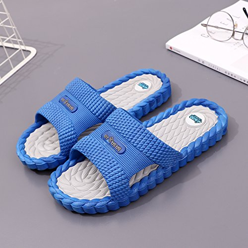 Soft fankou Men Bath Home E Cool Base 43 Massage Slippers Anti Slip Male Slippers Interior Summer Bathroom Home 4O84wrpq