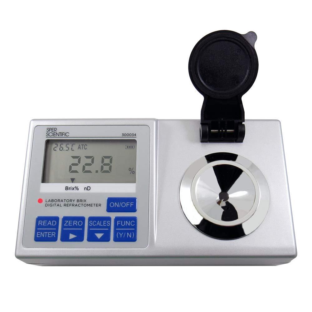 141 g Sper Scientific 300059 Waterproof Digital Refractometer Brix 0 to 60/% 4 1//2 x 2 1//4 x 1 108 x 57 x 25 mm Weight 5 oz. Weight 5 oz. 108 x 57 x 25 mm Grey 4 1//2 x 2 1//4 x 1 141 g