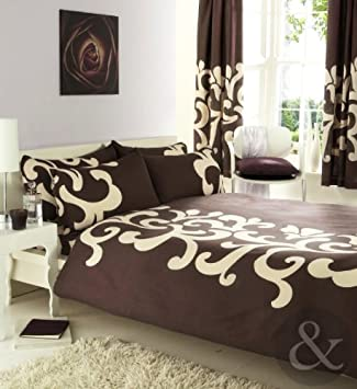Curtains Ideas cream bedding and curtains : COMPLETE BEDROOM SET Luxury Cotton Blend Duvet Quilt Cover ...