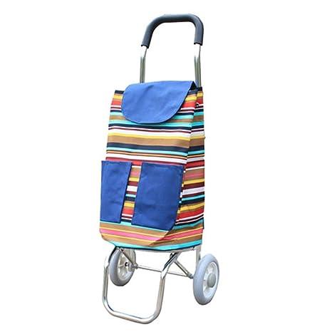 ChenDZ Carro de la Compra de Escalada Cargando Carro pequeño Carrito de Equipaje Carro de Remolque