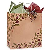 Tuscan Harvest Paper Shopping Bags - Regal Size - 14 1/2 x 9 x 16 1/4in. - Pack of 150