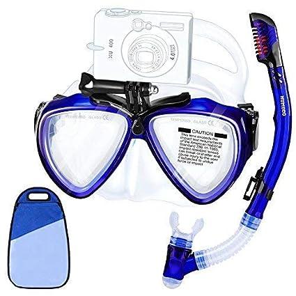 33f1ea172 HUMGOO Snorkel Máscara Gafas de Buceo