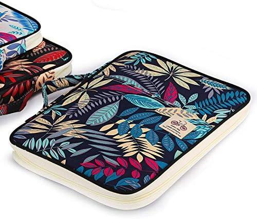 Portfolio-Tasche Notebooks Stifte BTSKY Multifunktionale A4/Dokumententasche // Reisetasche f/ür Akten Aufbewahrungstasche f/ür iPads Dokumente Blue Leaf