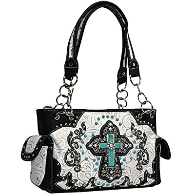 Western Rhinestone Bling Cross Purse Wallet Set