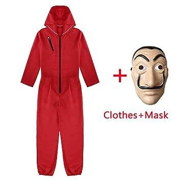 Amycute 2 PCS Traje de Disfraz con Máscara, Mono Rojo Careta ...