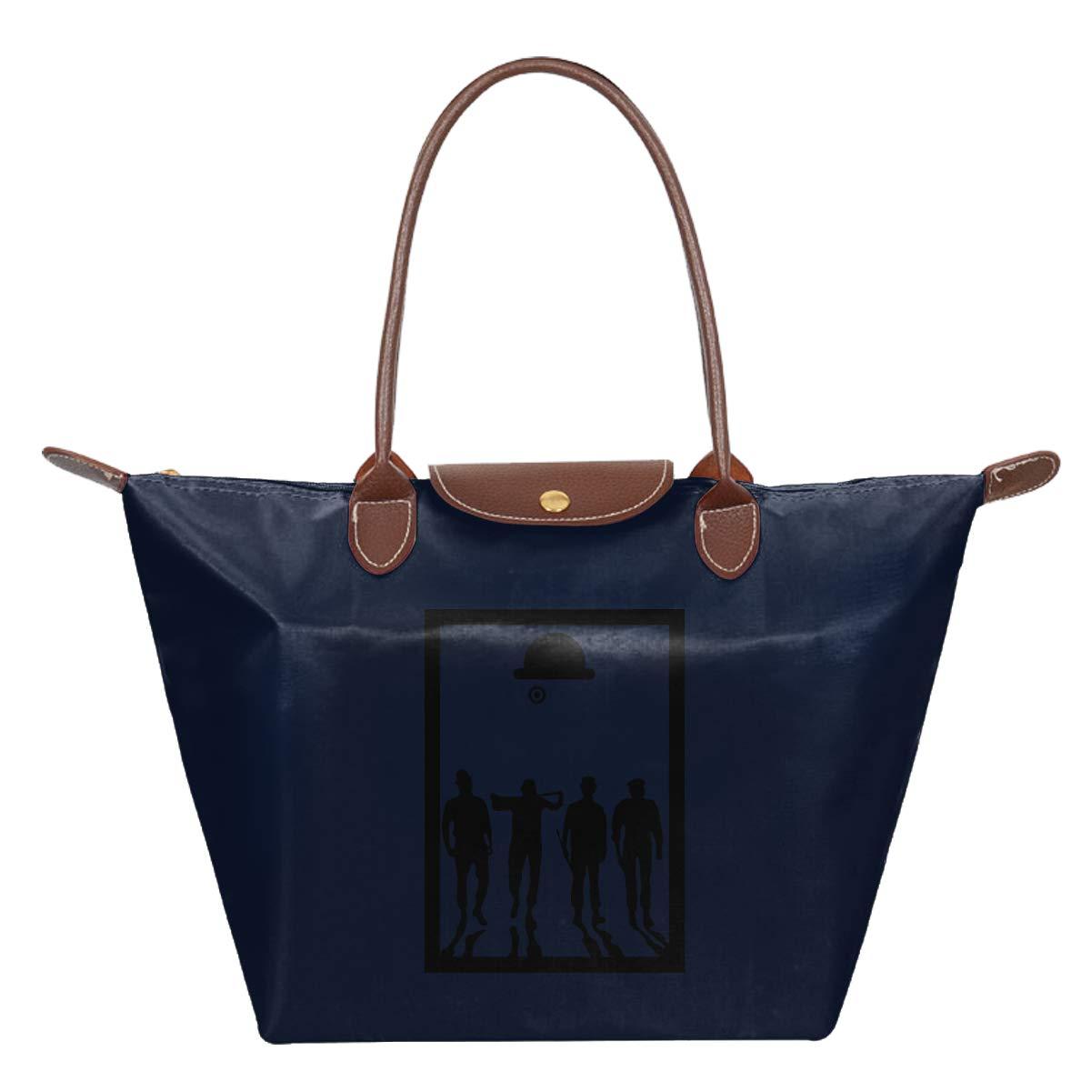 A Clockwork Orange Frame Movie Silhouette Waterproof Leather Folded Messenger Nylon Bag Travel Tote Hopping Folding School Handbags