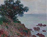 Oil Painting 'Bords De La Mediterranee Temps Gris 1888 By Claude Monet' Printing On Perfect Effect Canvas , 20x25 Inch / 51x64 Cm ,the Best Living Room Artwork And Home Decoration And Gifts Is This High Resolution Art Decorative Prints On Canvas